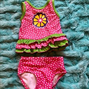 Hanna Andersson Baby Girl 2 Piece Swim Suit